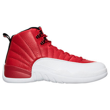 Nike Men's Air Jordan Retro 12 Basketball Shoes, Red/White