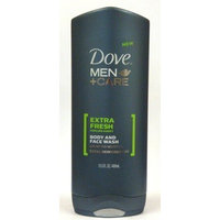 Dove Men+Care Extra Fresh Body & Face Wash, 13.5 oz. (Pack of 3)