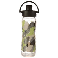 Glass Bottle with Active Flip Cap and Silicone Sleeve Green Envy Lifefactory 16 oz Bottle