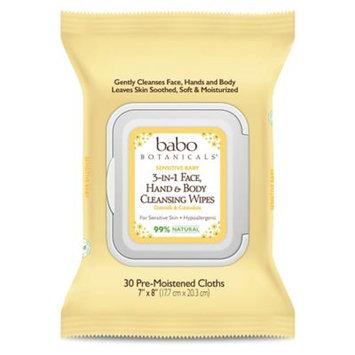Babo 3-in-1 Sensitive Baby Face, Hand, Body Wipes - Oatmilk & Calendula
