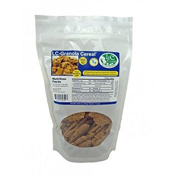 Low Carb Plain Granola Cereal - Fresh Baked - LC Foods - All Natural - Gluten Free - No Sugar - High Protein - Diabetic Friendly - Low Carb Granola - 8.46 oz