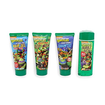 Teenage Mutant Ninja Turtles Bubble Bath Conditioning Shampoo Body Wash and Hair Gel Shower set