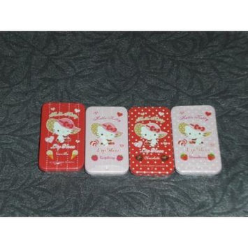 Hello Kitty Lip Gloss Set: 2 Strawberries, 1 Vanilla and 1 Chocolate, a total of 4 little boxes.