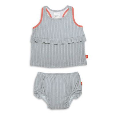 Lassig™ Size 2T 2-Piece Polka Dot Tankini Set in Grey