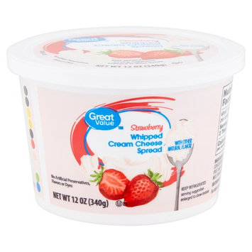 Great Value Strawberry Whipped Cream Cheese Spread, 12 oz