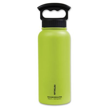 Icy Hot Hydration Icy-Hot Hydration V34001LM0 34 oz Lime Green Vacuum Insulated Bottle - 3 Finger Grip Lid - Pack of 4