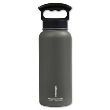 Icy Hot Hydration Icy-Hot Hydration V34001SL0 34 oz Slate Grey Vacuum Insulated Bottle - 3 Finger Grip Lid - Pack of 4