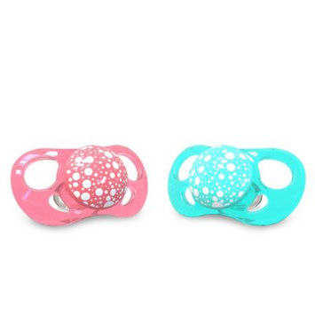 Twistshake 2x Pacifier Peach & Turquoise - 6 Months & Above