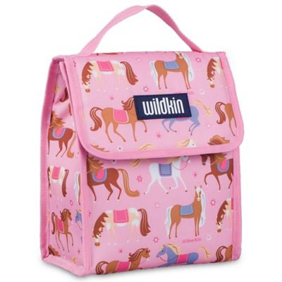 Wildkin Munch n Lunch Bag Olive Kids Horses - Wildkin Travel Coolers