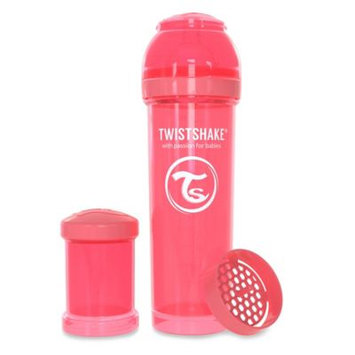 Twistshake Anti-Colic 330ml Bottle in Peach