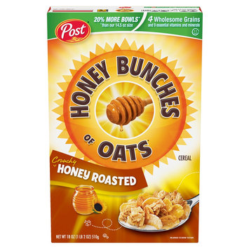 Post Foods, Llc Post Honey Bunches of Oats Honey Roasted Oat Cereal 18 oz
