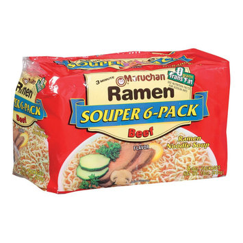 Maruchan Beef Ramen Noodle Soup 18 oz, 6 ct