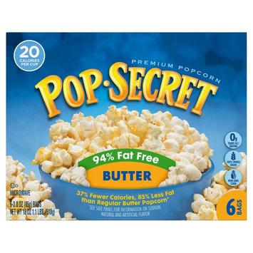 Pop-secret Pop Secret Buttered 94% Fat Free Popcorn 6 ct