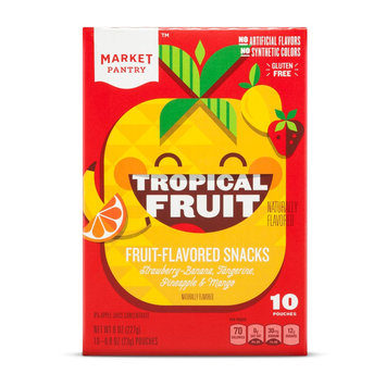 Ferrara Pan Candy Company Tropical Flavored Fruit Snacks 10 Count - Market Pantry