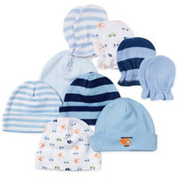 Gerber® Size 0-3M 9-Piece Helicopter Baby Boy Accessory Set in Blue