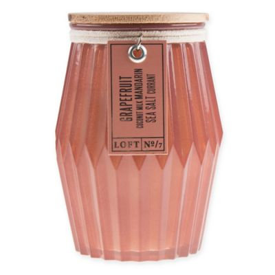 Loft 7 Grapefruit Tall Hex Candle