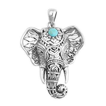 ZHUOTOP 1x Popular Gypsy Ethnic Style Elephant Necklace for Women