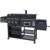 Smoke Hollow 3 Burner Propane Gas/Charcoal Combo Grill