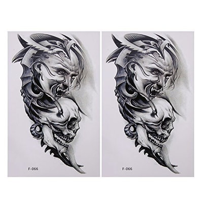 Domybest 2pcs Tattoo Stickers Removable Waterproof Temporary Body 3D Art Arm Fake