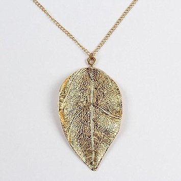 Jovono Necklace with Alloy Leaf Pendants For Women and Girls (G