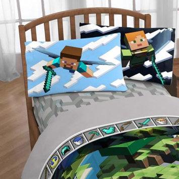 Minecraft Day & Night 4-Piece Full Sheet Set