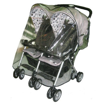 Sashas Rain and Wind Cover for Combi Twin Fold N Go Double Stroller