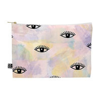 DENY Designs Hello Sayang Eye Blush Medium Pouch in Pink