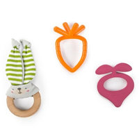 Bright Starts Bunny Bites Teething Set, Multi-Colored