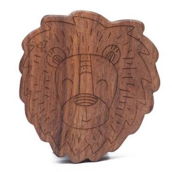 Finn + Emma® Lion Wood Rattle Teether in Brown