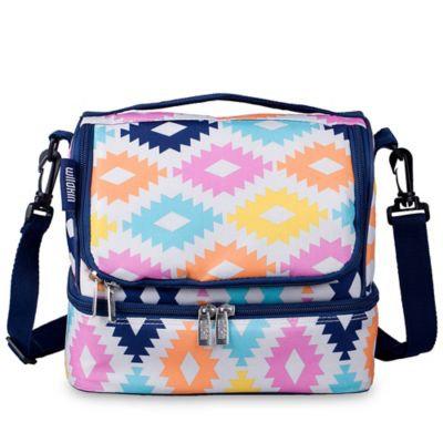 Wildkin Double Decker Lunch Bag Aztec - Wildkin Travel Coolers