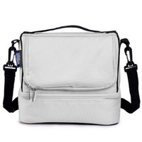 Wildkin Double Decker Lunch Bag Tan - Wildkin Travel Coolers
