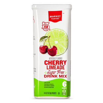 Sugar-Free Cherry Limeade Drink Mix 1.9 oz. - Market Pantry