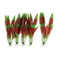 Fish Tank Ornament Green Red Landscaping Artificial Water Plant 11