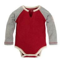 Burt's Bees Baby® Size 18M Long Sleeve Raglan Bodysuit in Cranberry