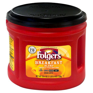 Smucker's Folgers Breakfast Blend Ground Coffee 25.4oz