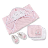 Baby Aspen Size 0-6M 4-Piece Little Princess Bath Time Gift Set