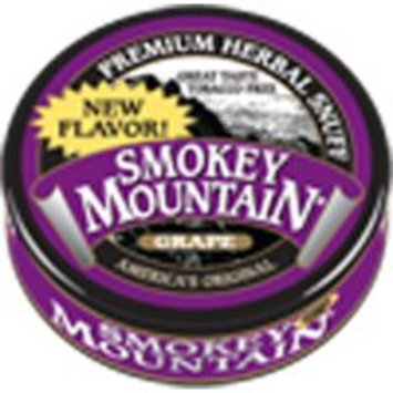 Smokey Mountain Herbal Snuff - Grape - 1-Can - Nicotine-Free and Tobacco-Free - Herbal Snuff - Great Tasting & Refreshing Chewing Tobacco Alternative [Grape]
