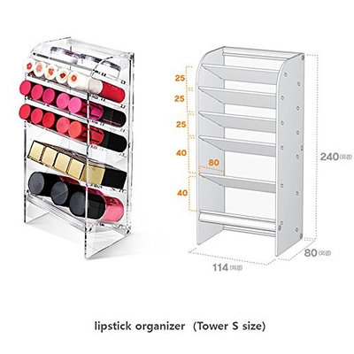 Acrylic DIY Cosmetic Organizer storage For lipstick make-up