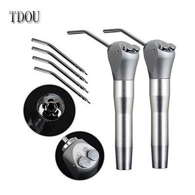 2PCS Dental Air Water Spray Syringe Triple 3 Way 2 Nozzles Tips Metal Handle + 4Pcs Metal Alloy Nozzles/Tips/Tube