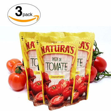 Tomato Paste - Natura's ® Pasta De Tomate Concentrada |100% Plant Based | Ready To Use| Made With Only With Fresh Tomatoes |No Preservative, No Artificial Colors| (227g, 8oz)3 Pack