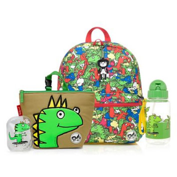 Babymel Zip & Zoe Junior Backpack with Lunch Bag and Water Bottle - Dylan Dino, Multi-Colored