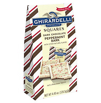 Ghirardelli Chocolate Squares Dark Chocolate Peppermint Bark