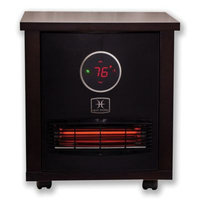 Heat Storm Logan Classic Infrared Quartz Portable Heater in Dark Walnut