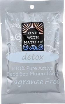 One With Nature 1841790 2.5 oz Dead Sea Mineral Salt Bath Detox Case of 6