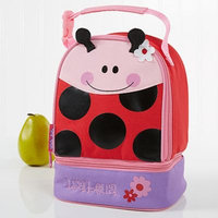 Stephen Joseph® Embroidered Ladybug Lunch Bag in Red
