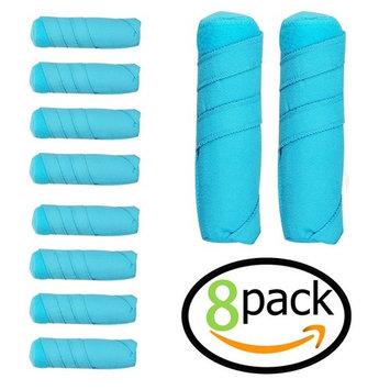 8 Pack Sleep Hair Rollers- Absorbent sleep hair rollers style Curling Apparatus,Curling Drum,Dry Hair Curler ,6 Inch Absorbent Heat Free Sleep Nighttime Styler Curlers