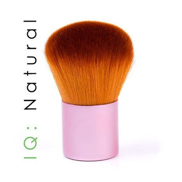 IQ Natural Foundation Makeup Brush Kabuki for Face - Perfect For Blending Liquid, Cream or Flawless Powder Cosmetics - Buffing Stippling Concealer - Premium Quality Synthetic Dense Bristles!