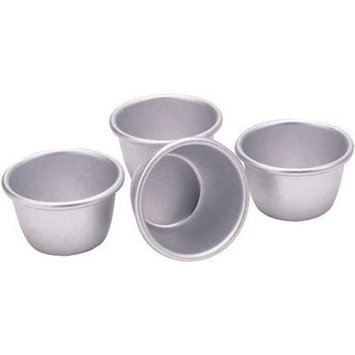 7.5cm Set Of 4 Anodised Mini Pudding Moulds