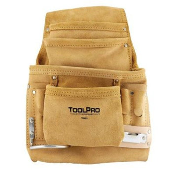 ToolPro 10-Pocket Suede Leather Nail and Tool Pouch