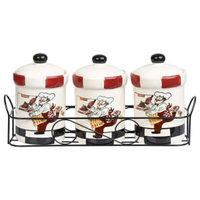 Lorren Home Trends 3-Piece Chef Spice Jar Set with Caddy